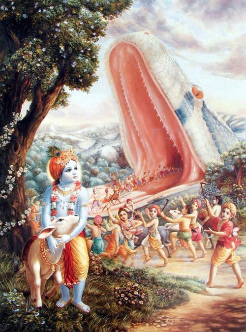 Aghasura vadha Telugu story
